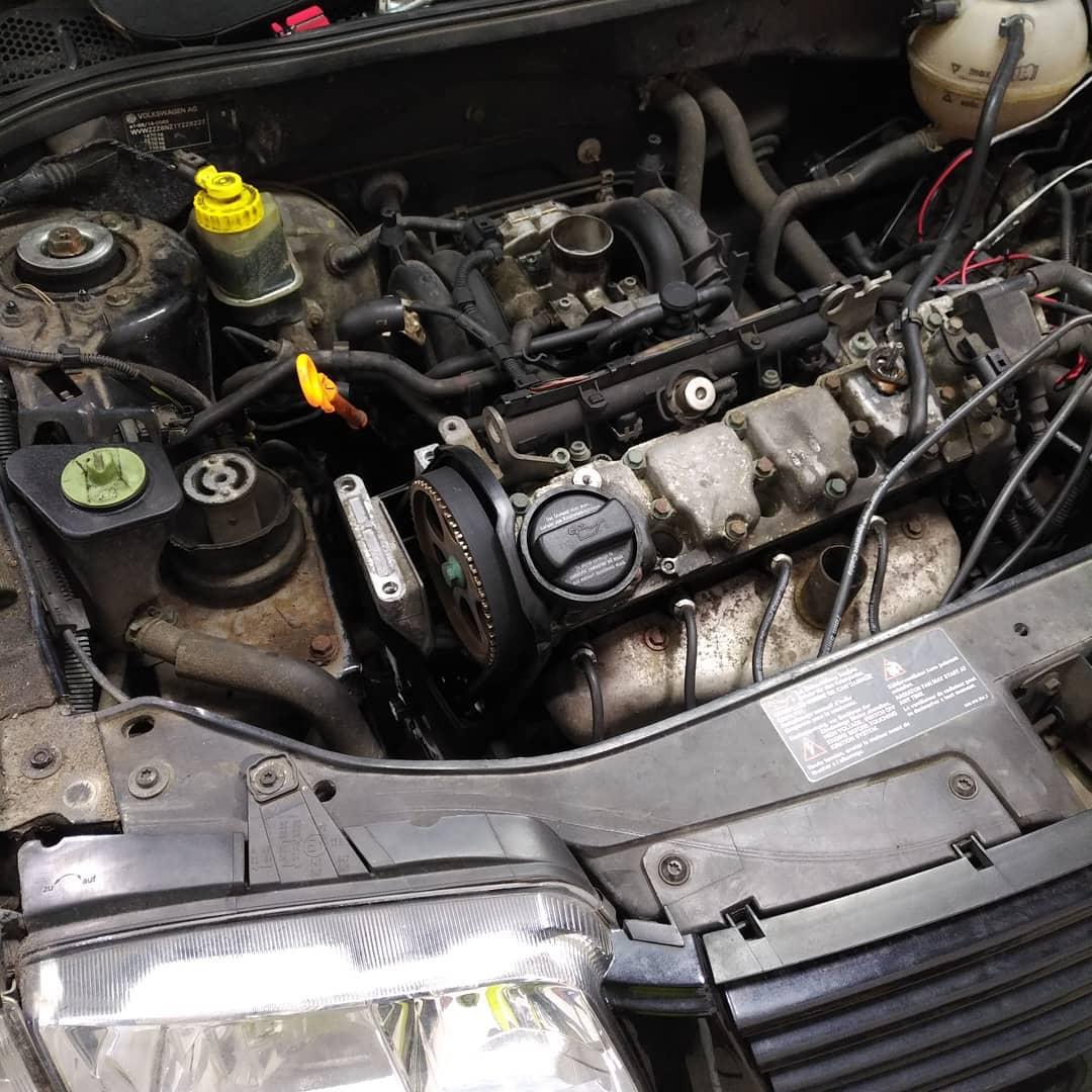 Volkswagen Polo cam-belt & water pump renewal.